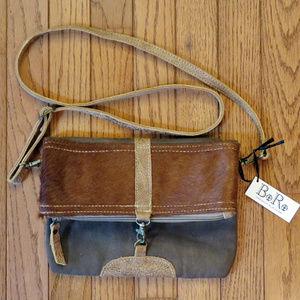 CHLOE & LEX Haircalf & Leather Boho Crossbody Bag